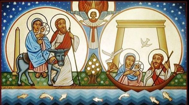 Christ's entry into #Egypt. #Coptic #Orthodox #Icon