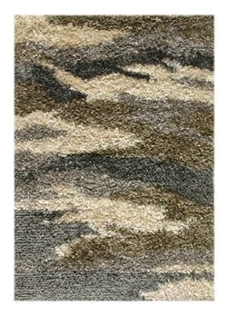 jaipur rugs utopia collection shag area rug in straw charcoal and