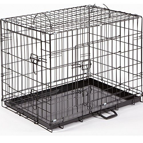 """From 40.99 Dog Crate Puppy Cage Small Medium Large Xl Xxl Metal Folding Training Cage With Metal Tray (design 1 Standard Cage Size 5 - 48"""" Xxl)"""