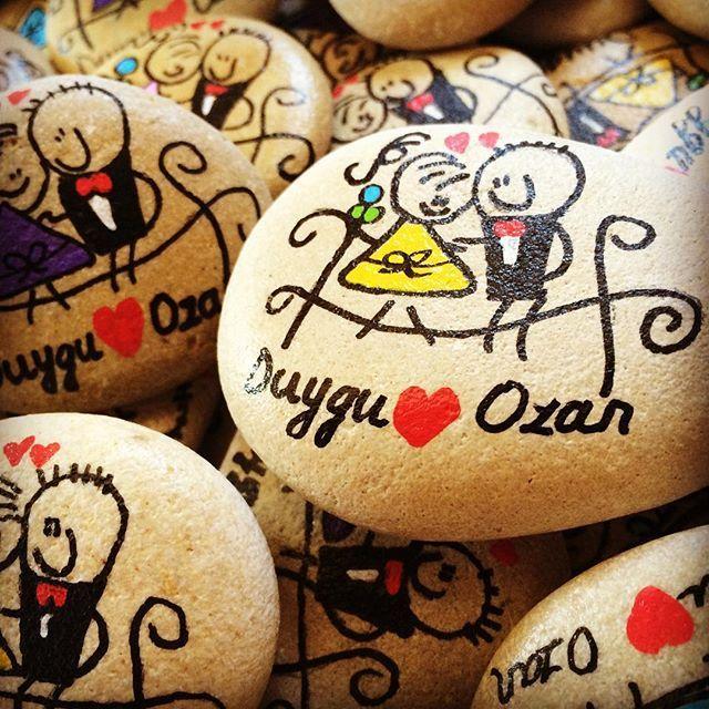 Duygu ❤️ Ozan evleniyor ✨ #magnet #nikah #taşboyama #taşsanatı #gelin #damat…