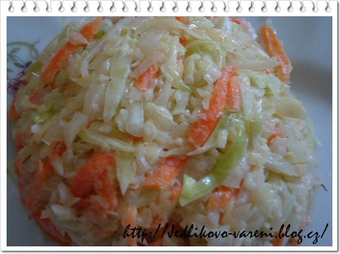 Jedlíkovo vaření: salát coleslaw #salate #zelenina #zelí #coleslaw