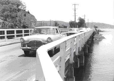 woy woy31.JPG The original bridge on Brisbane Water drive going into Woy Woy . Where the Spike Milligan bridge is today .