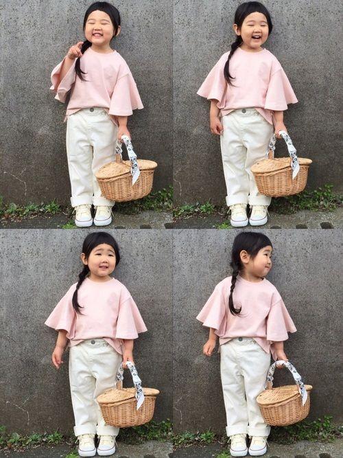 ピックアップタグ✦パステルカラー🌸 ボリューム袖がとっても可愛い💕 ピンクのトップスとかごバッグ