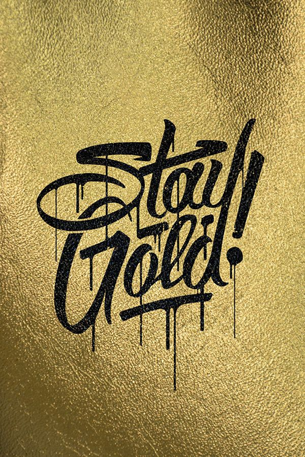Type Stuff by Lucas Young, gold and glitter, sparkling, rich, beautiful, shiny,