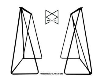 Artemis / 40mm x 40mm Metal Table Legs Set of 2 by WOLFBLANCshop