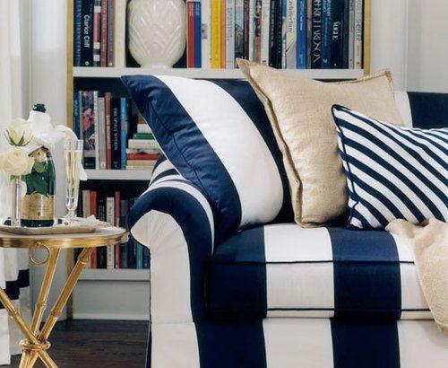 M s de 1000 ideas sobre sof de color azul marino en - Muebles estilo marinero ...