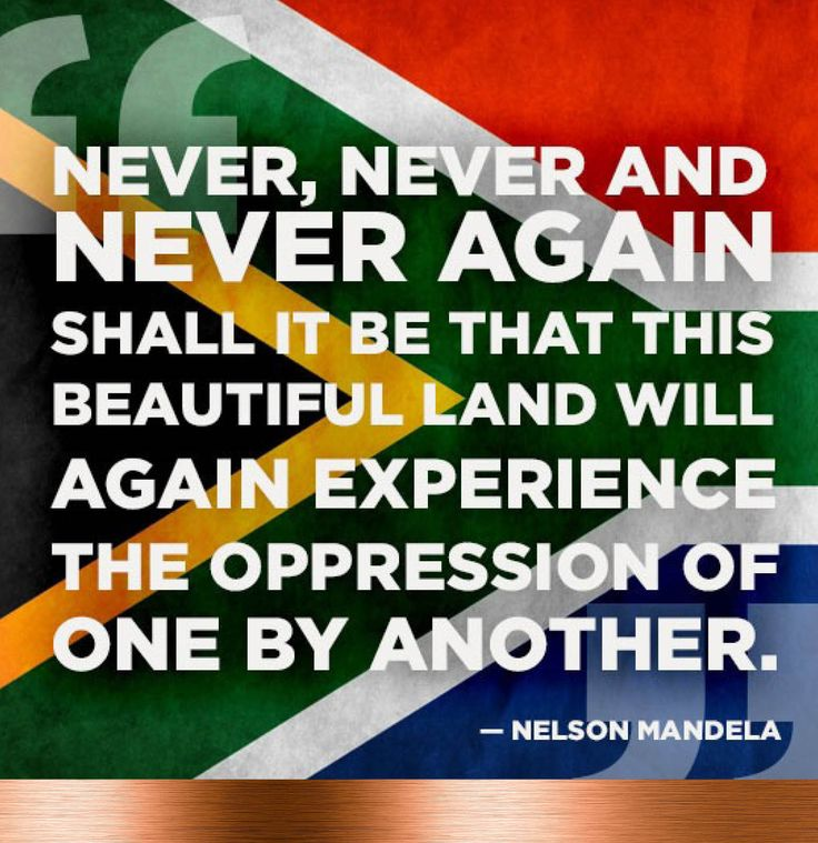 On this day that we celebrate our freedom as South Africans, let us remember the words of Nelson Mandela.