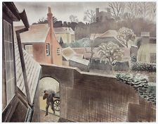 "Eric Ravilious - ""Back Gardens, Castle Hedingham"" by Eric Ravilious"