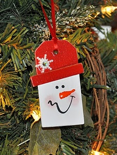 Snowman Gift Tag . .or tree ornament?