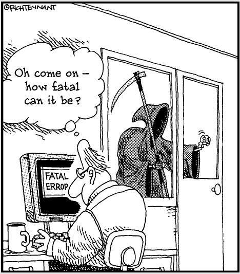 the Far Side, Gary Larson, Fatal Error