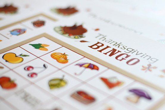 Kids printables for Thanksgiving  1. Thanksgiving Bingo, Kopp Family (shown above) 2. Thanksgiving Word Search, The KidzPage. 3. Thanksgiving Crossword Puzzles, Education.com...
