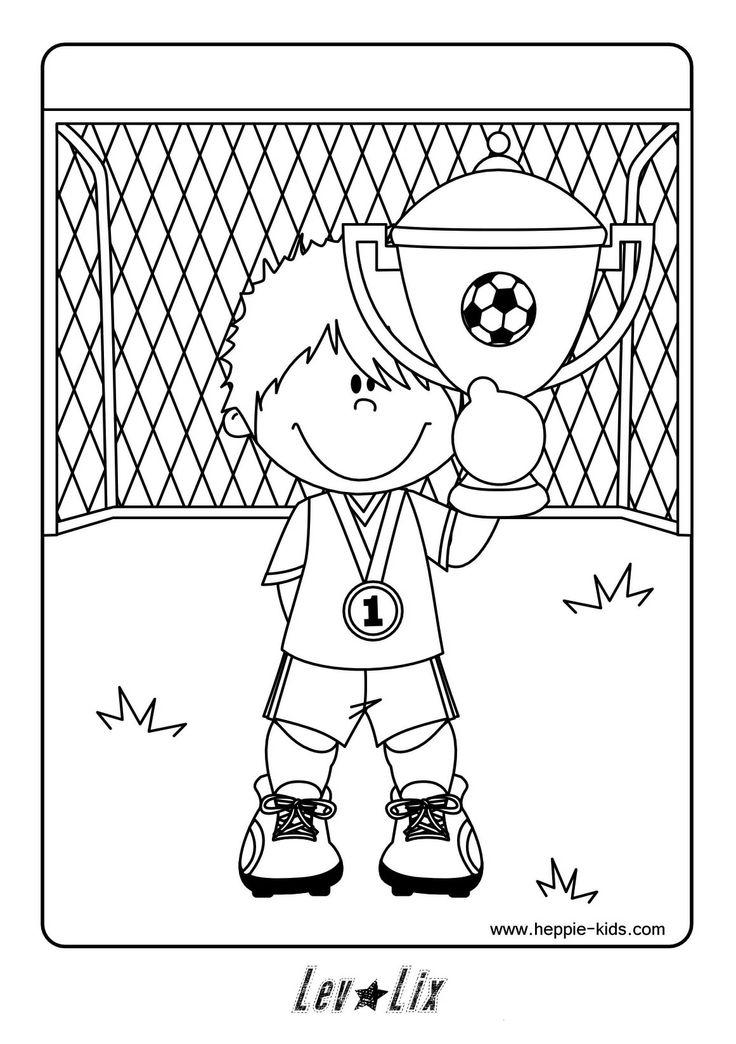 Kleurplaat voetbal.