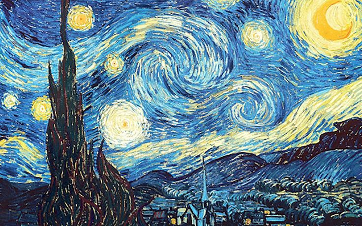"""Vincent Van Gogh died having sold just one painting during his lifetime.  He committed suicide with little recognition of his life's work, and we're only just beginning to realize what a true genius he really was. His famous 1889 painting, """"The Starry Night"""" — where light and clouds flow in"""