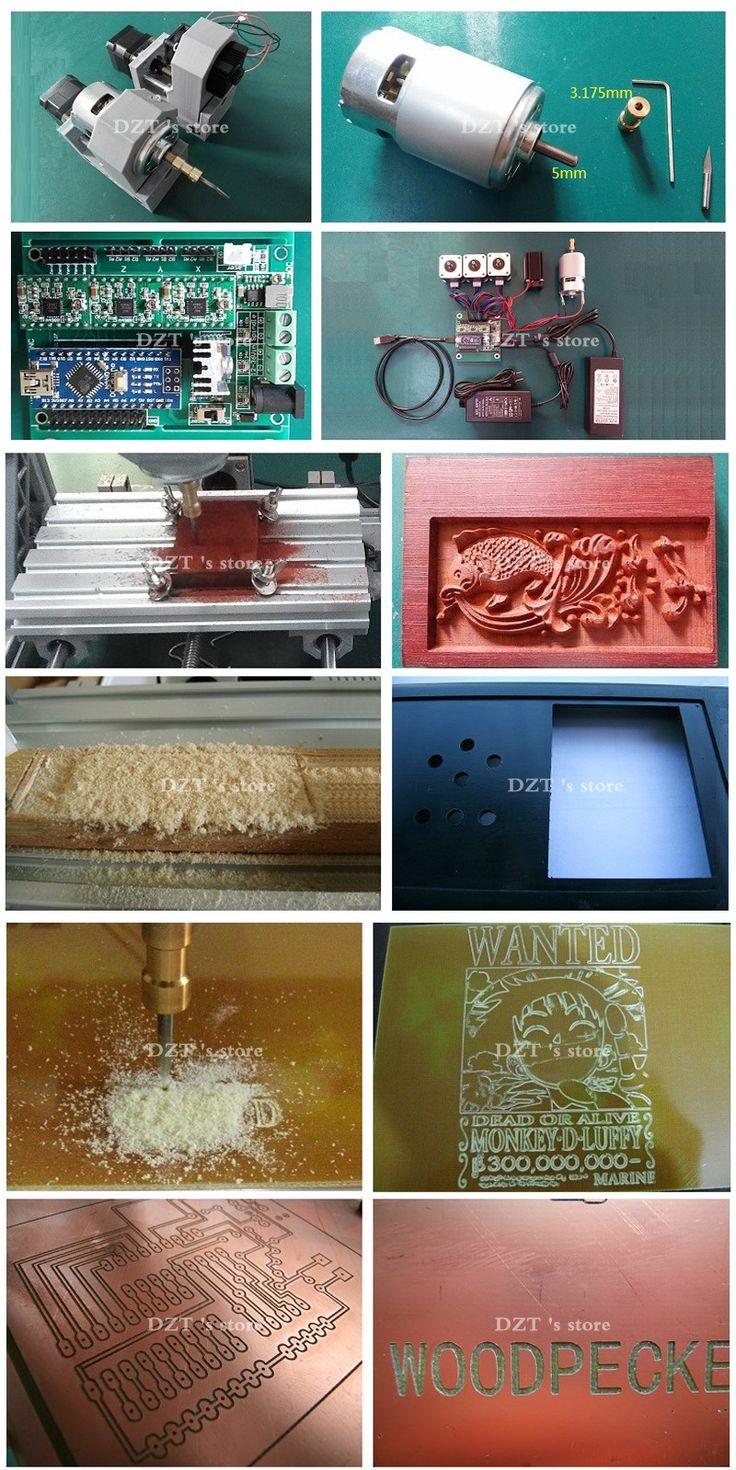 Control de CNC 1610 GRBL Diy mini máquina CNC, área de trabajo 16x10x4.5 cm, 3 Ejes fresadora de Pcb, Madera Router, cnc router, v2.4 en Enrutador de Madera de Mejoras para el hogar en AliExpress.com | Alibaba Group