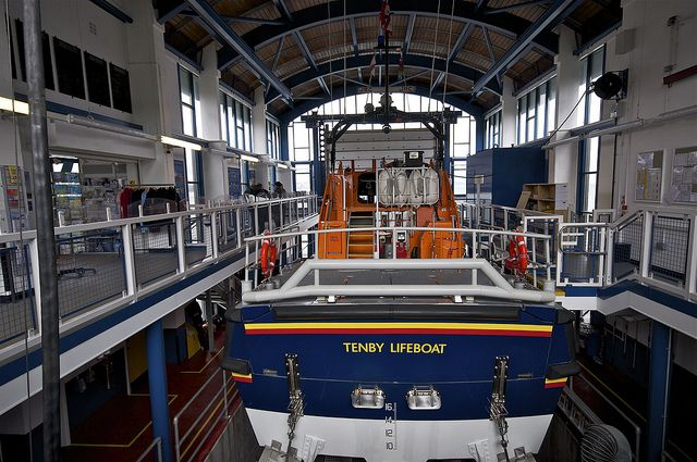 ~ Tenby was given the honour of getting the first of the new Tamar class lifeboats, the Haydn Miller ~ Tamar class lifeboats are all-weather lifeboats (ALBs) operated by the Royal National Lifeboat Institution (RNLI) around the coasts of Great Britain and Ireland ~ the alarm goes out around Tenby and the volunteers come running from homes, beaches, and even pubs ~ it is an amazing testament to the human spirit ~