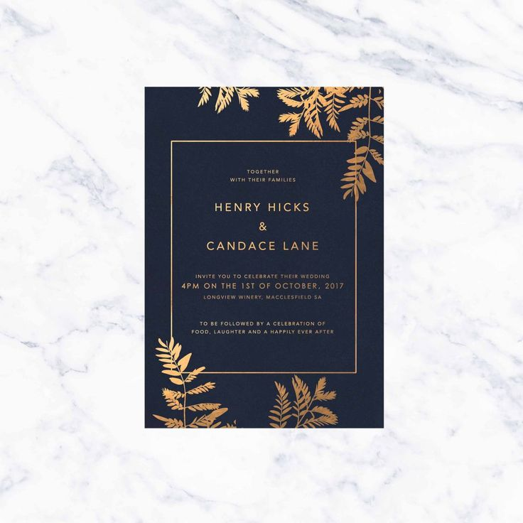 funny wedding invitation rsvp goes viral%0A Luscious Fern Foil Wedding Invitations Foiling Bronze Rose Gold Gold Silver  Invites Australia Custom Wedding Stationery