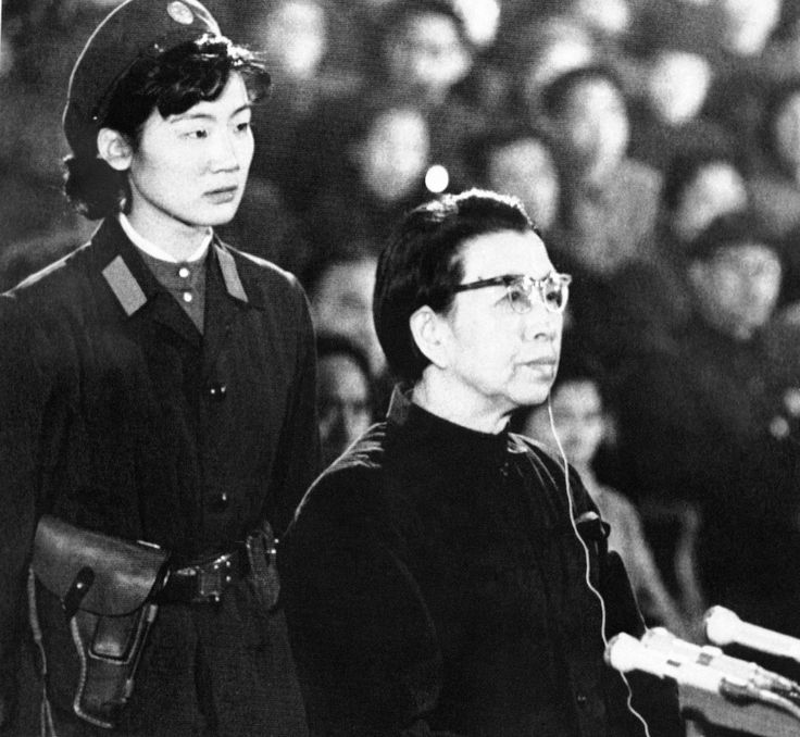 Mao Zedong's widow Jiang Qing sits in the defendant's box during her trial in 1980 for various crimes committed during China's violent 1966-76 Cultural Revolution. Jiang claimed she was being scapegoated for implementing Mao's directives that resulted in the persecution of millions. AP Photo