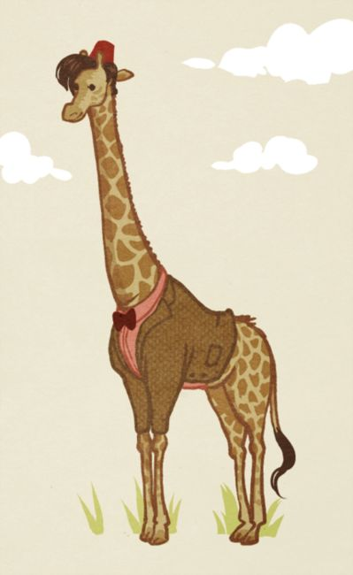 Doctor Giraffe... I don't know WHY THIS EXISTS, but it is amazing.// it's because of his giraffe dance at Amy and Rory's wedding haha