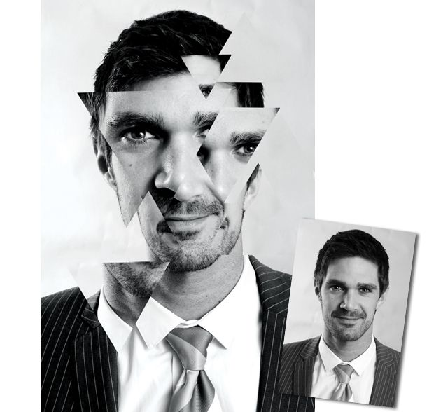 Abstract Portraits: how to create a striking photo montage using clipped shapes