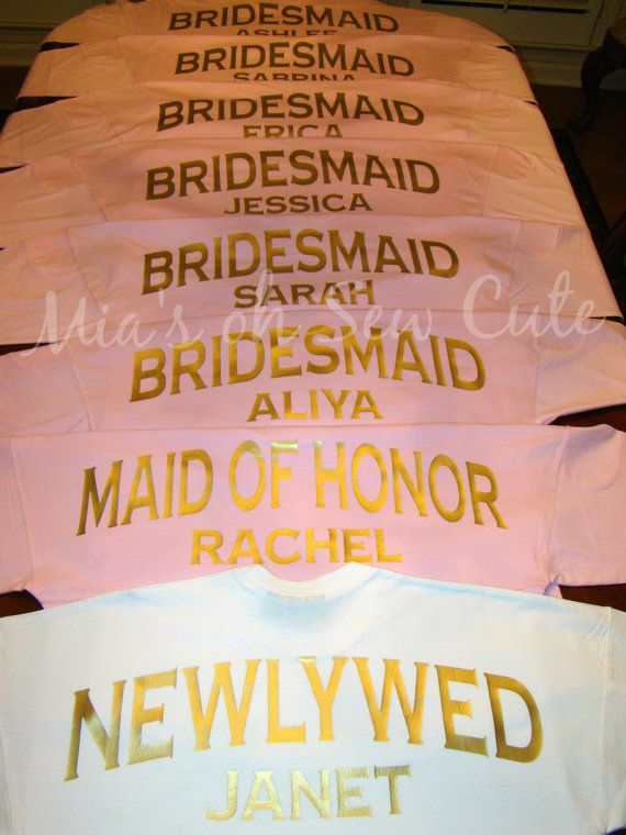 Custom Oversized Spirit Jersey Brides Bridesmaids by MiasOhSewCute