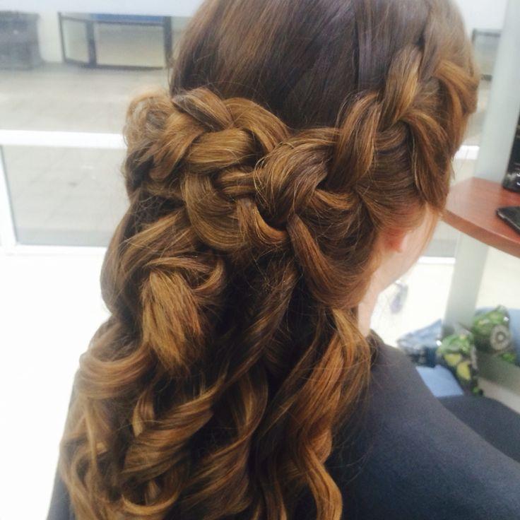 A beautiful formal style with a twist of adding a braid #amandatheartofhair#hairdresserbrisbane