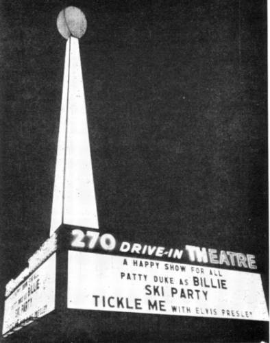 270 Drive-In in Florissant, Missouri: The 270's marquee.