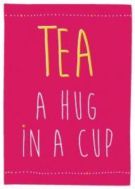 thee staat voor vriendschap, gastvrijheid, biedt troost, kalmeert en geneest. Een echt hug in a cup. Zoek je een mooie losse thee of wil je deze kaart. Kijk op http://www.theejoy.nl