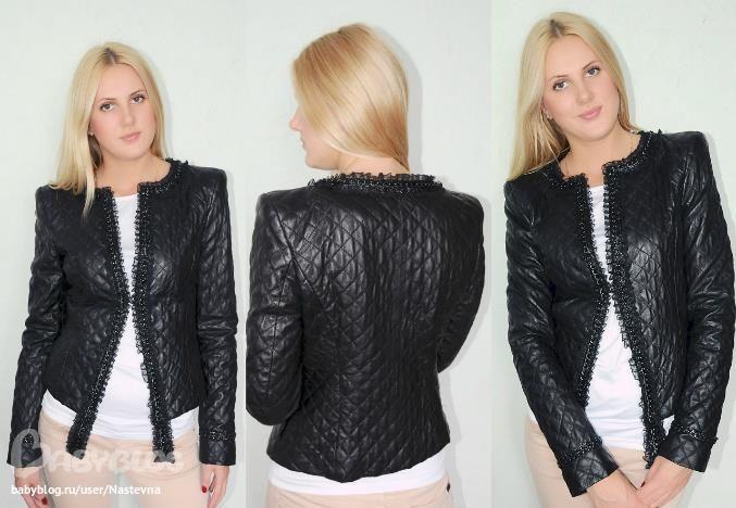 Зимняя женская черная стеганная куртка 54 размера