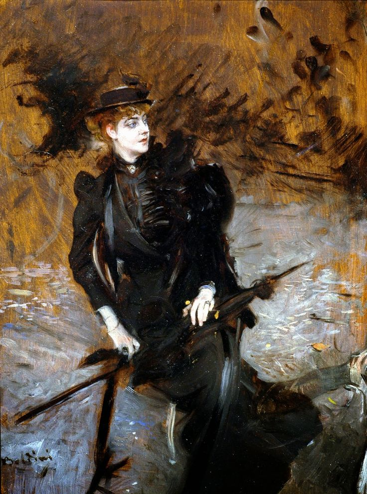 Giovanni Boldini - Ritratto della signora Enrichetta Allegri, 1894-95, Olio su tavola, 34,5×26,5 cm