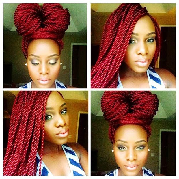 Miraculous 1000 Ideas About Colored Senegalese Twist On Pinterest Short Hairstyles For Black Women Fulllsitofus