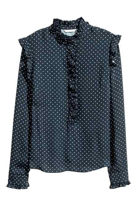 Bluză cu volănașe