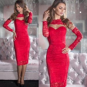 Wow!! That's pretty awesome!! We're in love with this lovely Red Lace Dress!! <3