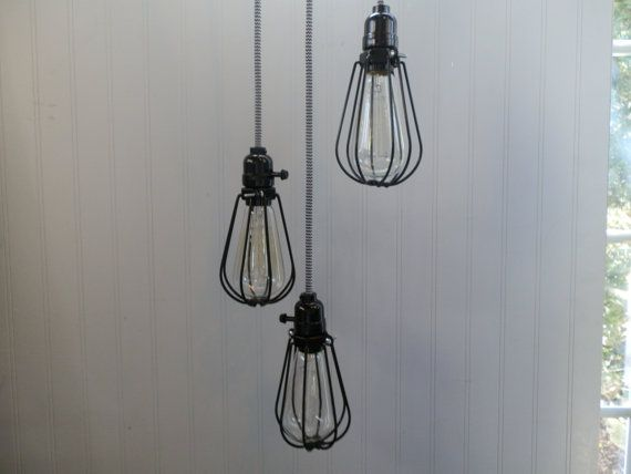 SALE++Industrial+Pendant+Lamp+with+Lamp+Guard+by+ReclaimedUrban,+$79.00