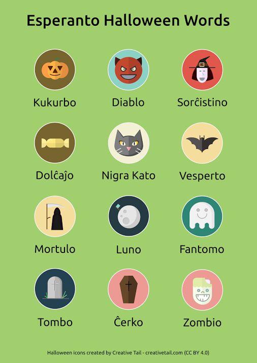Halloween words. #Esperanto