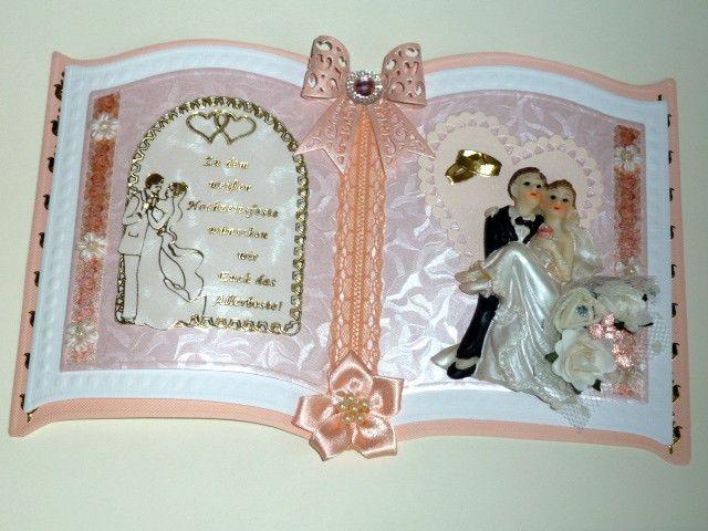 3D Buchkarte Hochzeit Nr. 461 von *M