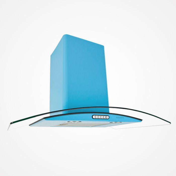 Lacuna Móveis Planejados | Eletros Coifas Coifa Fogatti Vidro Curvo Azul