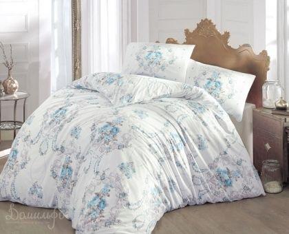 Купить постельное белье RANFORCE ADMIRE бирюзовое 50х70 евро от производителя Altinbasak (Турция)
