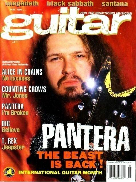 Dimebag Darrell* May/1994 Guitar magazine cover
