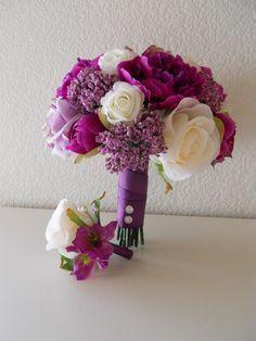 sangria cream wedding bouquet