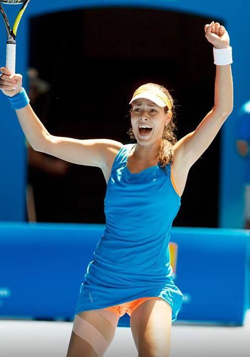 2014 Australian Open fourth Round; Ana Ivanovic def. Serena Williams 4-6, 6-3, 6-3 #WTA #Ivanovic #AUSOpen