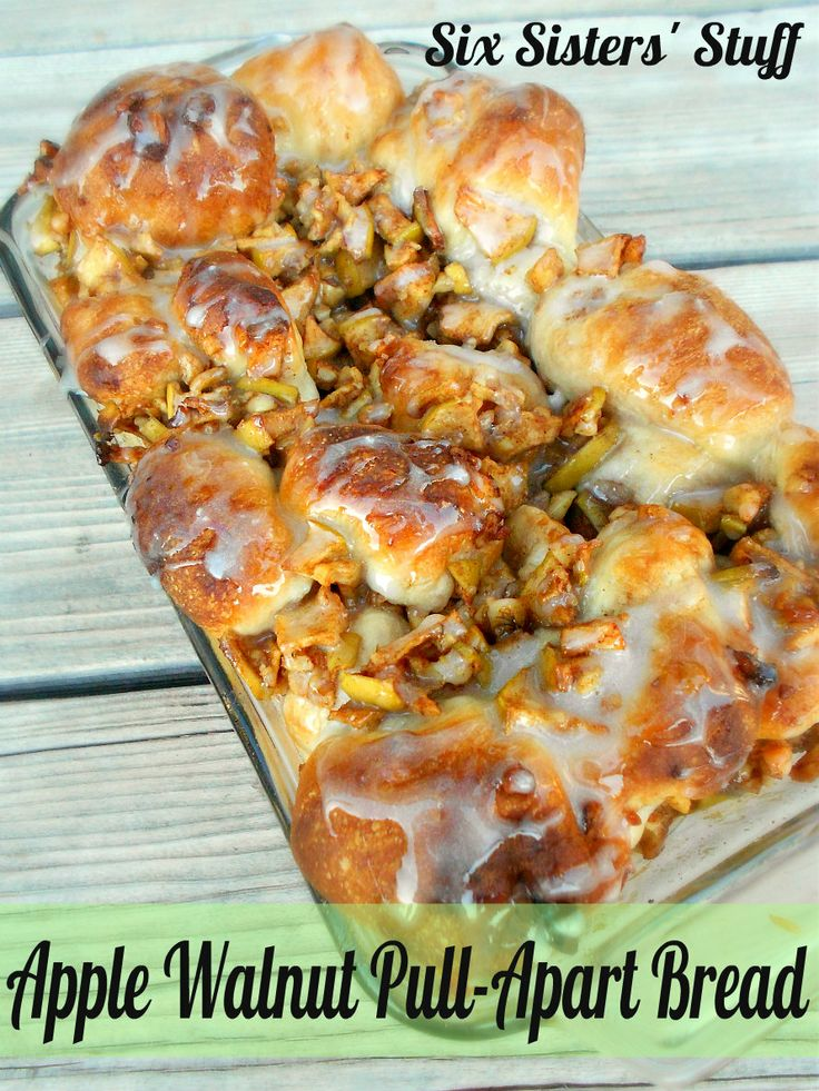 Apple Walnut Pull-Apart Bread, I might eat the whole thing, DANGEROUS! via Six Sisters Stuff (don't you just love their blog?)