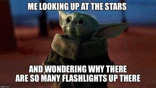 Flashlights Babyyoda In 2021 Yoda Meme Disney Plus Star Wars Memes