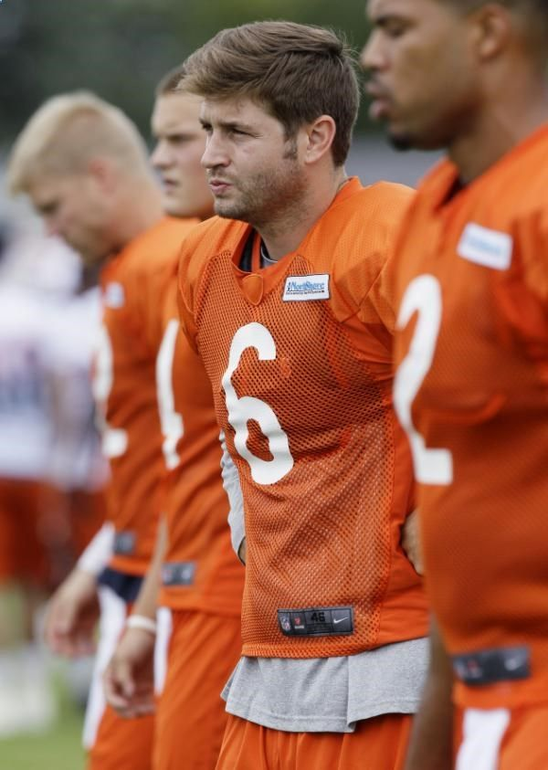 NFL Teams are getting ready for all the NFL betting action.Check out Chicago Bears quarterback Jay Cutler (6) works with teammates during NFL football training camp at Olivet Nazarene University in Bourbonnais, Ill., Thursday, July 26, 2012. Visit: www.sportsbook.ag...