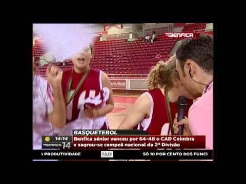 """""""[Basquetebol Feminino] Benfica sénior venceu por 64-48 o CAB Coimbra e sagrou-se campea nacional da 2.a Divisao"""""""
