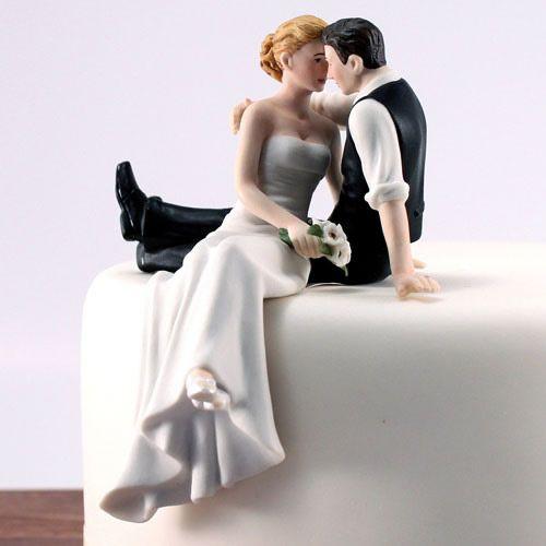 Look of Love Wedding Cake Top (Custom Hair Colors!) #wherebridesgo #weddings