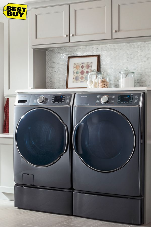 Ideas For Above Washer And Dryer.