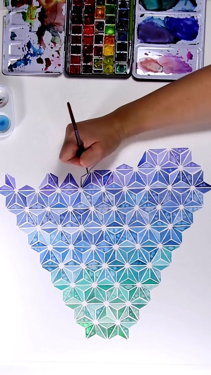 Complicated Watercolor Pattern