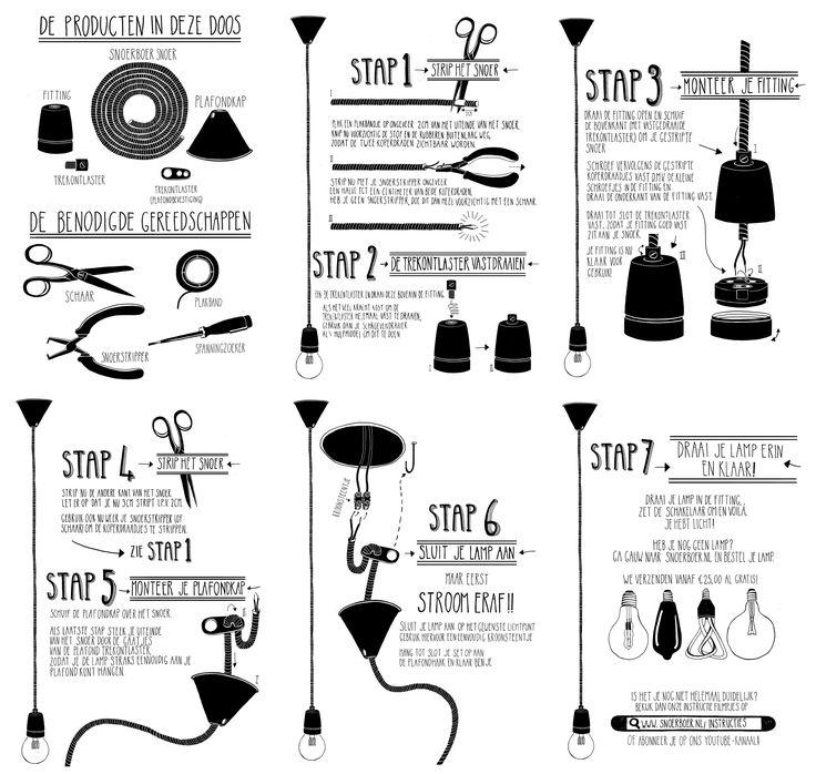 Handleiding: maak je eigen lamp via snoerboer.nl