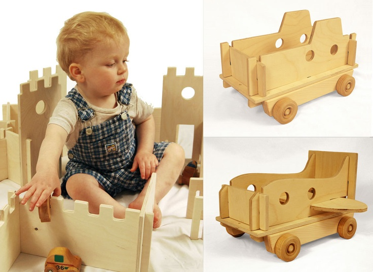 Modular Building Walls and Vehicle Gift Set, open ended toys that work together for hours of imaginative play