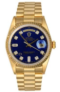 ♛ Rolex Mens 18K Yellow Gold w/diamonds President Day Date. ♛